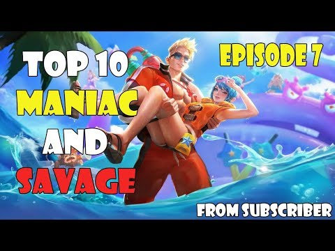 EPISODE 7 : TOP 10 SAVAGE AND MANIAC MOMENTS | SKIN GIVEAWAY