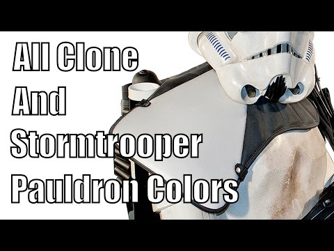 All Clone and Stormtrooper Pauldron Colors