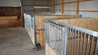 Installing Best Ramm Portable Panel Horse Stalls.