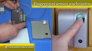 Fingerprint an Haustür Nachrüsten so geht`s / Fingerprint Codeschloss Wireless Mathfe
