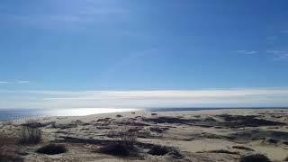 Высота Эфа на Куршской косе. Вид с новой смотровой площадки на Куршский залив и гряду высоких белых