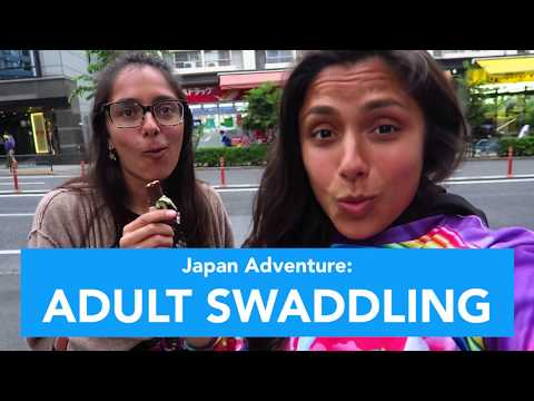 TRYING ADULT SWADDLING! (WEIRD)