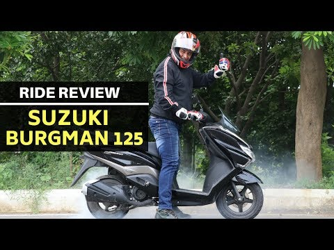 Suzuki Burgman Street 125 scooter : road test review