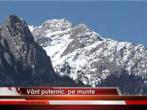 Vânt puternic, pe munte