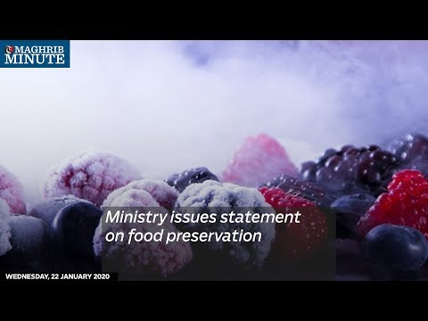 Ministry issues statement on food preservation
