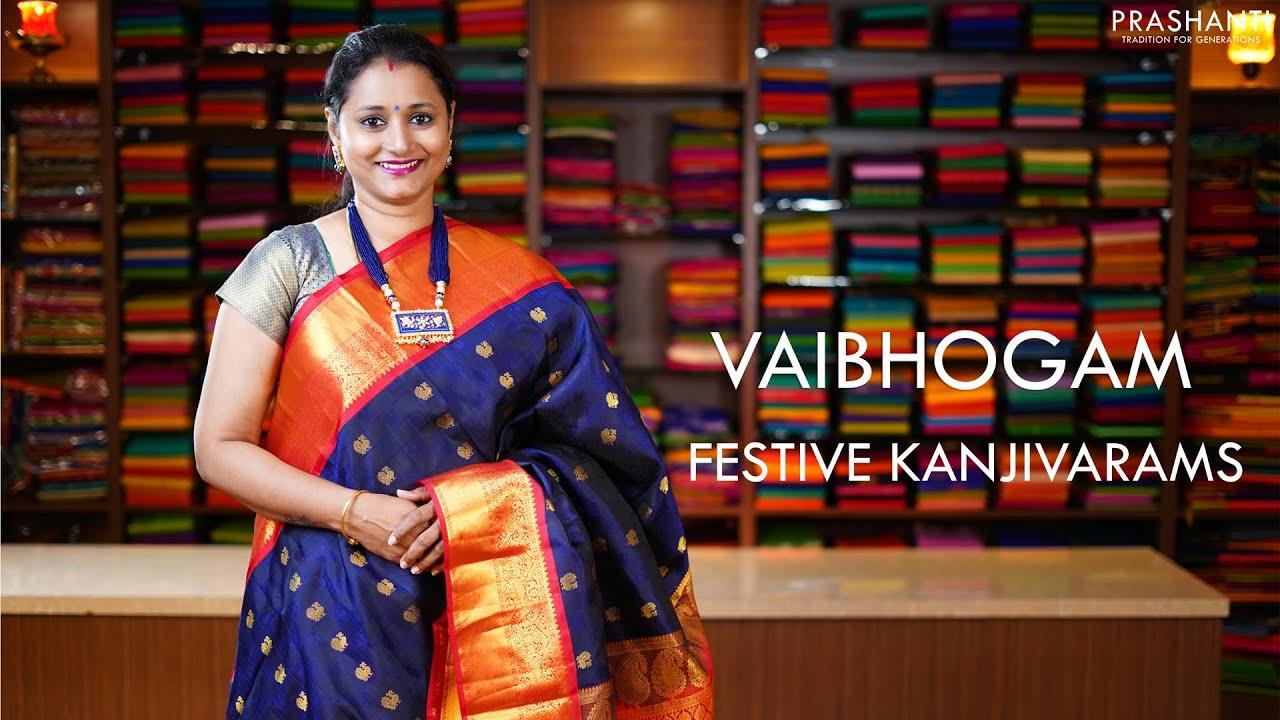 "<p style=""color: red"">Video : </p>Vaibhogam - Festive Kanjivarams | 13 Jan 21 | Prashanti 2021-01-13"