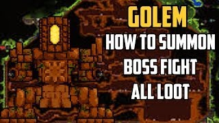 Terraria - GOLEM - How To Summon, Boss Fight, ALL loot