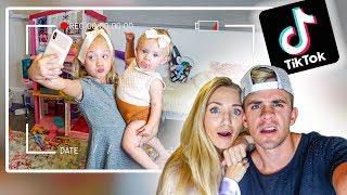 Hidden Camera Catches Everleigh Making Secret Tik Toks While Babysitting Posie...