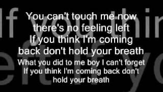Nicole Scherzinger - Don't Hold Your Breath - Lyrics