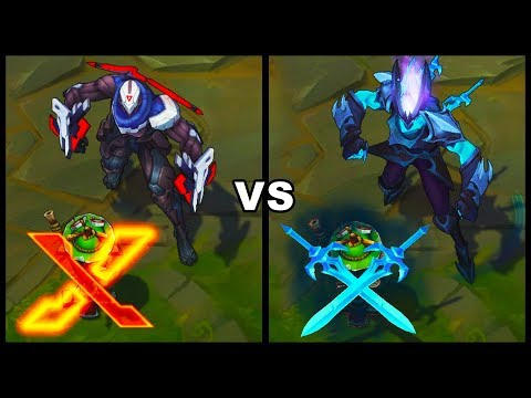PROJECT Zed vs Death Sworn Zed Best Zed Skins Comparison (League of Legends)