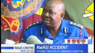 Police spokesperson Charles Owino gives latest updates on the Awasi accident