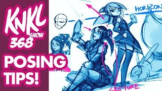 KNKL 368: Using Reference To Create New Original Poses! (45min LIVE Drawing + Posing Demo!)