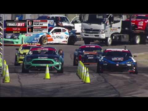 フォーミュラ・ドリフト ダラス(テキサス)第6戦トップ32の追走ドリフトトーナメントの無料ライブ配信動画(PRO)