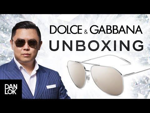 Gold Edition Dolce & Gabbana Sunglasses Unboxing