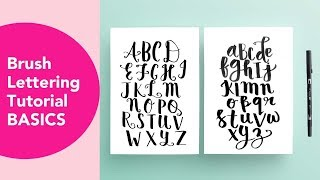 Brush Lettering Basics With FREE Printables!