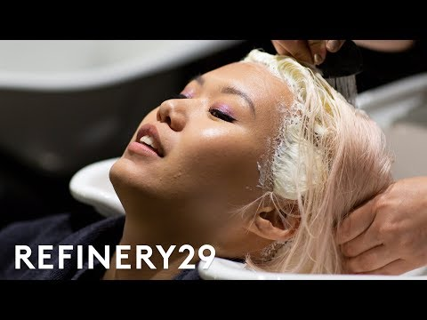 My Pastel Pink To Lilac Hair Color Transformation | Beauty With Mi | Refinery29