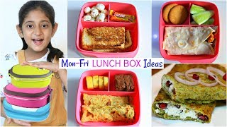 MONDAY To FRIDAY Kids LUNCH BOX Recipes | #MyMissAnand #CookWithNisha