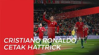 Pertandingan Portugal Vs Lituania, Cristiano Ronaldo Cetak Hattrick yang ke-9 di Timnas
