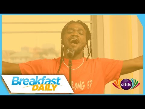 AI performs Grind and other songs on Breakfast Daily