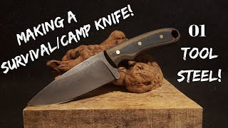 Making A Knife | Survival Camp Knife | 01 Tool Steel