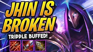 They TRIPLE BUFFED Jhin and now he's BROKEN - TFT Galaxies | Teamfight Tactics Set 3 | LoL