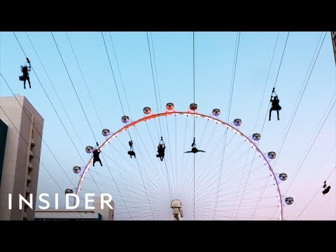 Race Your Friends Over the Las Vegas Strip on This Awesome Zipline