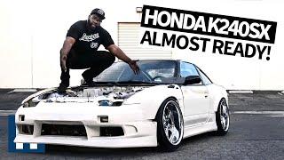 UnPros Garage: Hert's Honda Powered K240SX is Almost Ready! Johnnies, Aero, Bash Bar + More Ep.6
