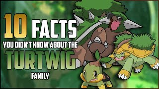 Grotle  - (Pokémon) - 10 FACTS You DIDN'T KNOW About The TURTWIG FAMILY!