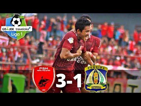 PSM Makassar vs Persiba Balikpapan 3-1 - All Goals & Highlgiht - Liga 1 - 24/10/2017