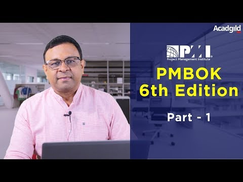 PMP Training Video 6th Edition Part 1| PMBOK 6th Edition 2018 ...
