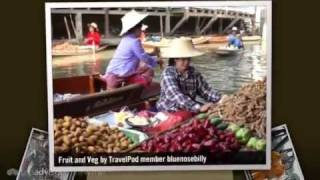 preview picture of video 'Floating Market, Kanchanaburi and The River Kwai Bluenosebilly's photos around Kanchanaburi'