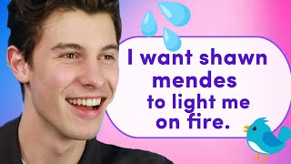 Shawn Mendes Reads Thirst Tweets