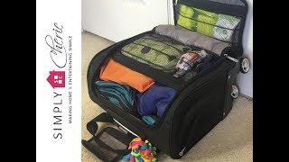 How I Pack My Under Seat Carry On Luggage for a Short Road Trip (3 days out of town) {Ep. 1}