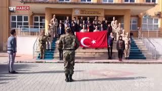 kütahya sosyal bilimler lisesi öğrencileri  asker kıyafetleriyle komando yemini etti.