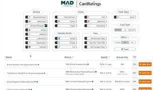 Travel Credit Card Search Tool (v2.1)