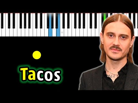 LITTLE BIG - TACOS | Piano_Tutorial | Разбор | КАРАОКЕ | НОТЫ + MIDI