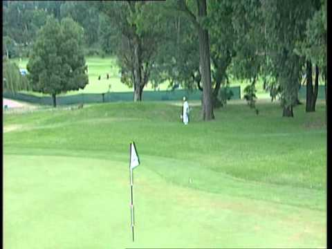 James Kingston should play the lottery with luck like this.  An amazing hole in one at the 15th hole of the Dunhill Championships '02.