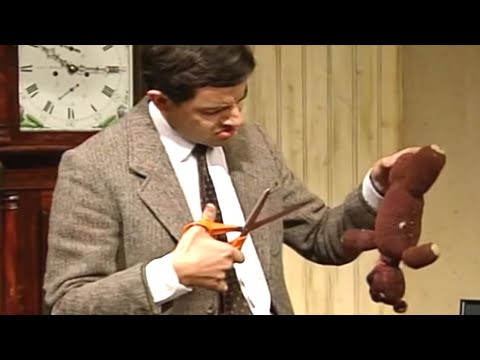 Don't Cut Teddy!   Funny Clips   Mr Bean Official
