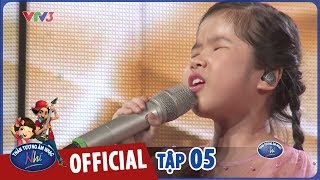 VIETNAM IDOL KIDS 2017- TẬP 5 - NGÀY ĐÁ ĐƠM BÔNG - MINH HIỀN