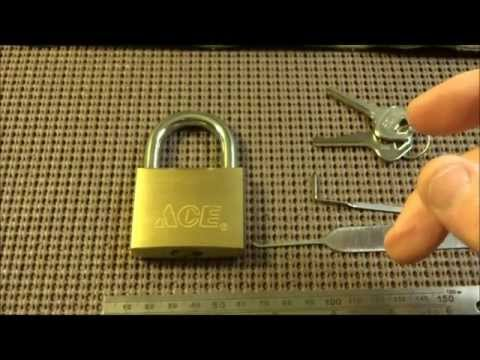 (76) ACE Model 54543 50mm High Security Padlock SPP'd