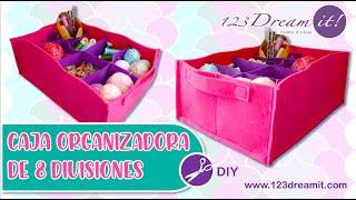 Caja con 8 Divisiones - Proyecto DIY Costura Paso a Paso