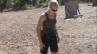 Janna Reeves taking  Hostage Taker Shooting Course at Sovereign Arms