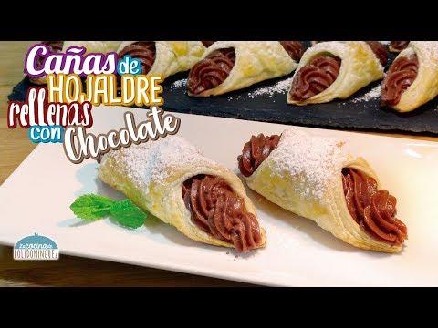 Vamos a preparar unas Cañas de hojaldre rellenas, receta muy fácil - Loli Domínguez