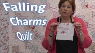 Falling Charms Quilt Tutorial - Quilting With Charm Packs