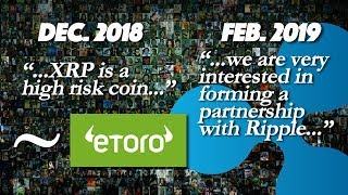 Ripple XRP: eToro Has Changed Their Tune On Ripple & XRP Since December 2018