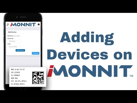 Adding devices to iMonnit
