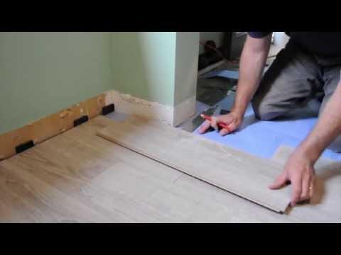 installation de planchers de verrouillage de clic