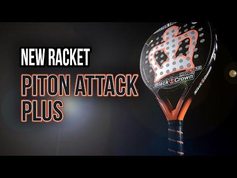 Pala de Padel Black Crown Pitón Attack Plus