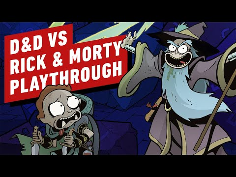Dungeons & Dragons vs Rick and Morty Starter Set Playthrough Part 1