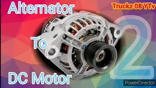 Alternator To DC Motor How To Wiring